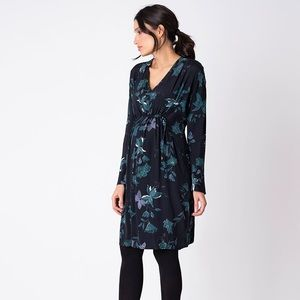 Maternity & Nursing Dress with Adjustable Waist